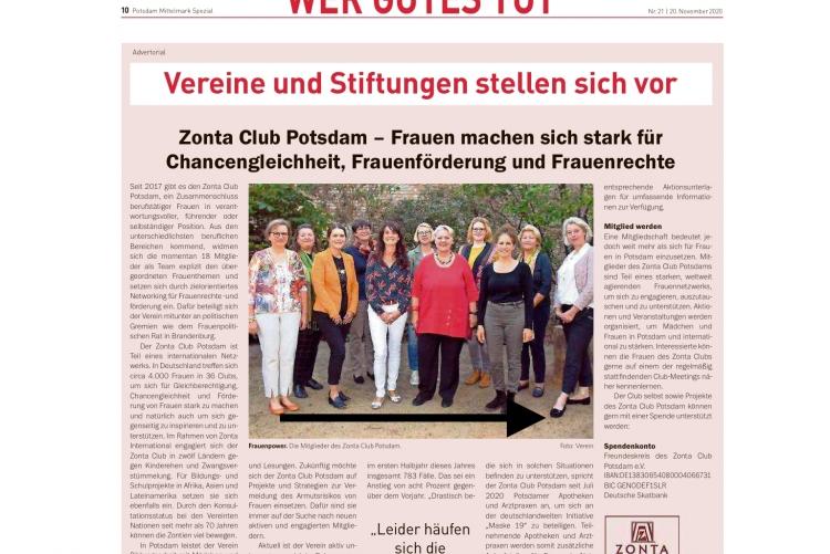 © Potsdamer Neuste Nachrichten vom 20.11.2020